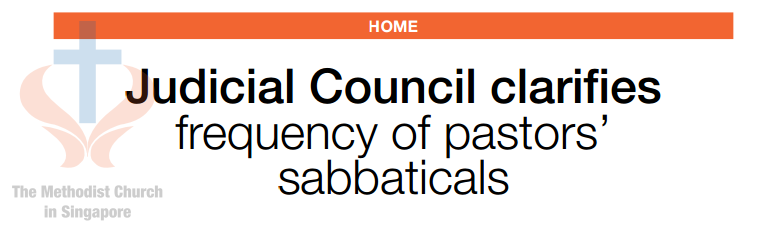 Judicial Council clarifies frequency of pastors' sabbaticals