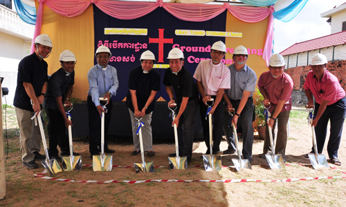 Cambodia's Glory Trinity MC breaks ground  for new building