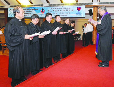 ORDINATION-CUM-CLOSING SERVICE OF 35TH SESSIONS OF CHINESE ANNUAL CONFERENCE AND EMMANUEL TAMIL ANNUAL CONFERENCE