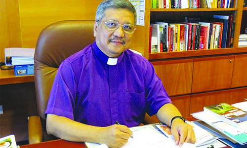 Bishop's call to young Methodists: Step forward to serve MCS