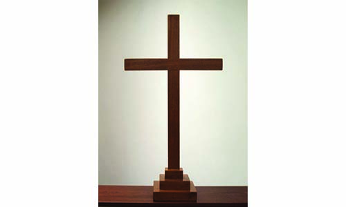 Aldersgate MC's old wooden cross