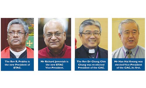 Rev Prabhu elected ETAC President, Rev Dr Chong re-elected CAC head
