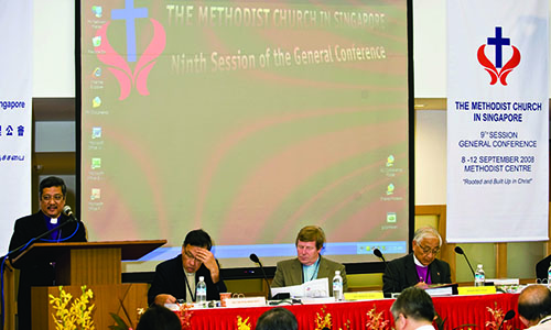 9TH SESSION OF THE GENERAL CONFERENCE OF THE METHODIST CHURCH IN SINGAPORE