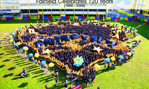 Human school crest kickstarts Fairfield's year of joy