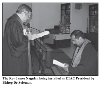 Rev James Nagulan re-elected ETAC Head