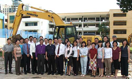 Ground-breaking ceremony for upgrading of Geylang Methodist Secondary School