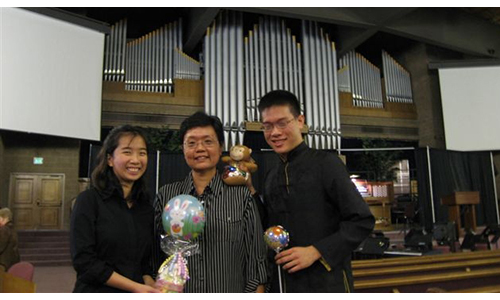Three MSM students clinch top prizes in US organ competition