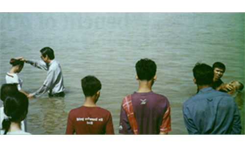 98 Cambodians baptised in river