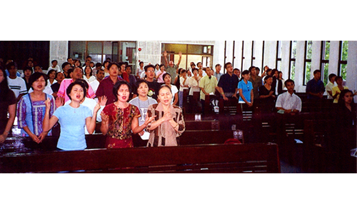 Methodist Church service  for Myanmar nationals