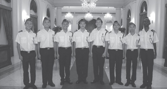 The first 8 BB Boys to receive the President's Award