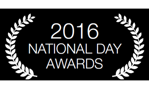 National Day Awards 2016