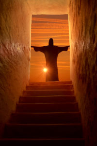 Jesus Christ risen in Easter resurrection Sunday