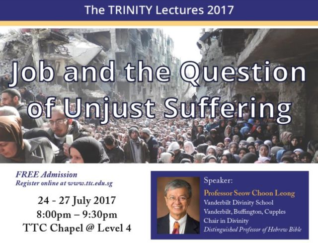 The TRINITY Lectures 2017: Job and the question of unjust suffering