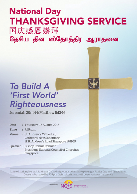 Join Christians here to build a righteous Singapore