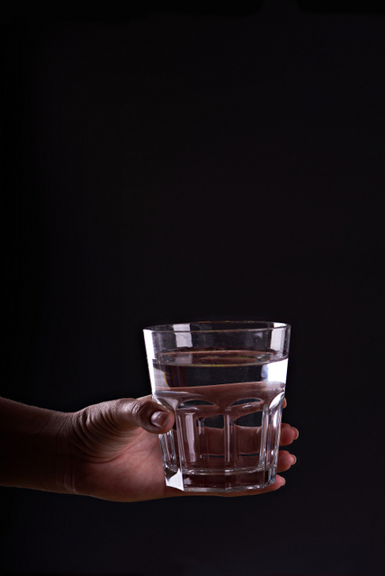 A cup of water holds God's fresh grace