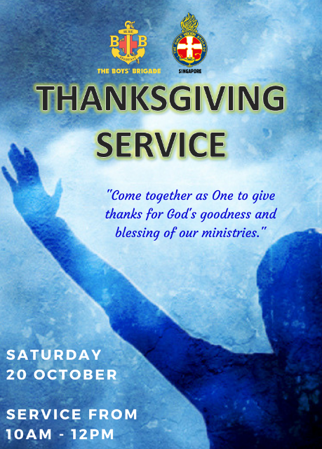 The Boys' Brigade and Girls' Brigade joint thanksgiving service