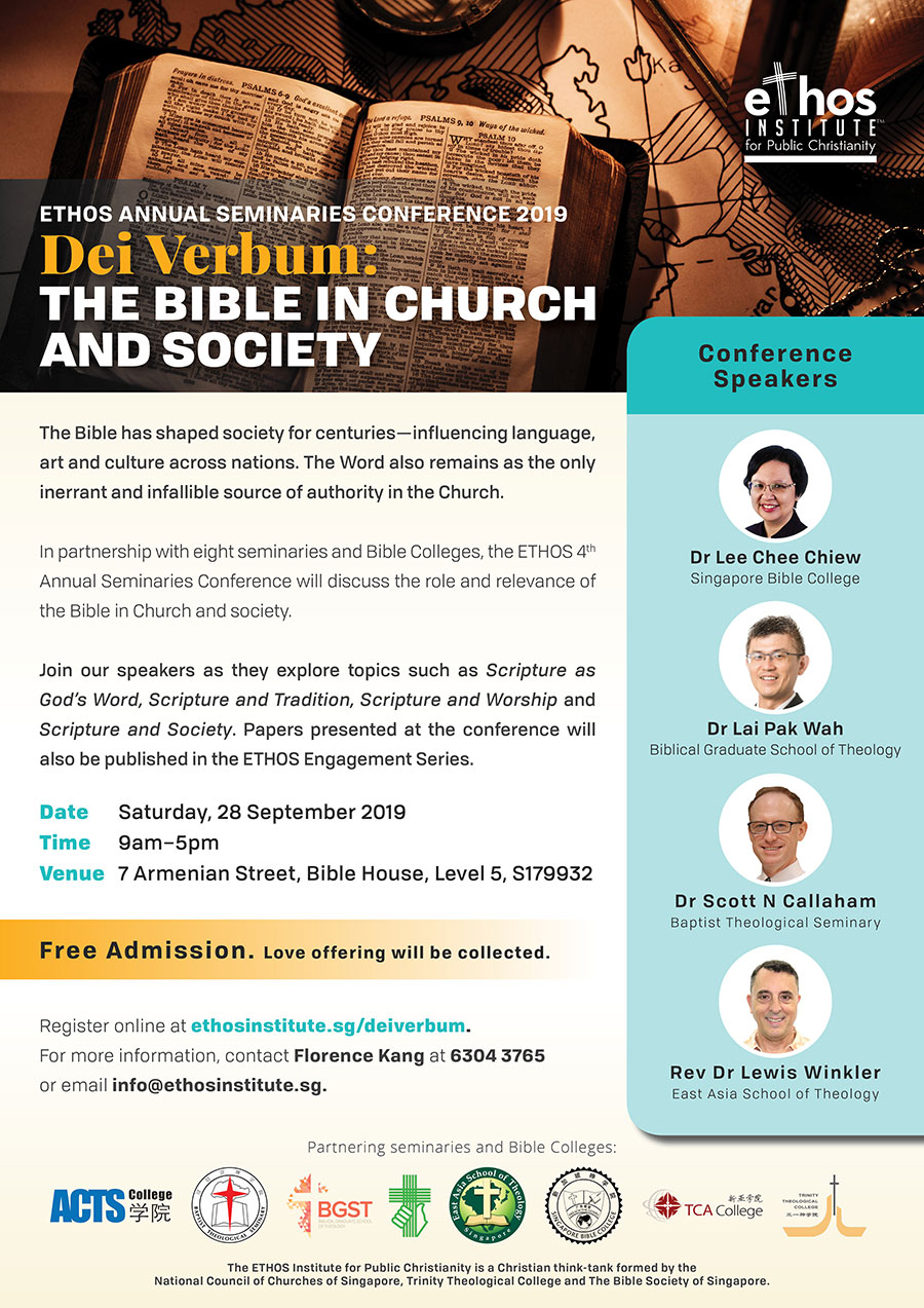 ETHOS Annual Seminaries Conference 2019 –  Dei Verbum: The Bible in Church and Society